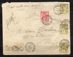 2/ France : Superbe Lettre Avec N° 81 & 82 X3  ,  Disperse Trés Grosse Collection ! - 1876-1878 Sage (Type I)