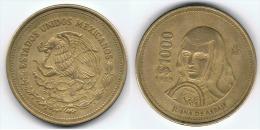 MEXICO 1000 PESOS 1989 JUANA DE ASBAJE P - México