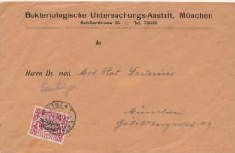 MÜNCHEN  -  1919 , Bakteriologische Untersuchungs-Anstalt   -  Dispatch: Big Letter - Bavaria
