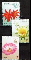 FORMOSE TAIWAN 2008, FLEURS DE CACTUS, 4 Valeurs, Neufs / Mint. R209 - Sukkulenten