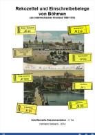 Rekozettel Und Einschreibebelege Von Böhmen Als österreichisches Kronland, 1886 Bis 1918 - Philatelie Und Postgeschichte