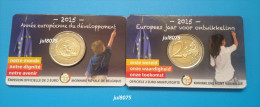 2 Euro Commemorative Belgique 2015 Développement Européen En Coincard BU Pièce NEUVE (type Wallone) - Belgium