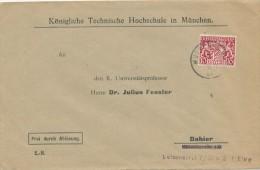 MÜNCHEN -  Königliche Technische Hochschule  - Big Letter, Dispatch = 4,00 EURO - Bavière