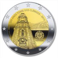 """PORTUGAL  2.013 2013  SC/UNC    2€ Bimetálica """"TORRE DOS CLÉRIGOS""""  T-DL-10.475 - Portugal"""