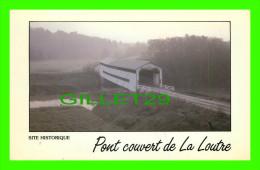 PONT COUVERT - ST-BRUNO-DE-GUIGUES, QUÉBEC - PONT COUVERT  SUR LA LOUTRE - CIRCULÉE EN 1986 - PHOTO, FRANÇOIS RUPH - - Ponts