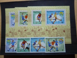 CENTRAL AFRICA   Football Soccer World Cup-1990   4v. Imperf.+4 Deluxe Sheets  Rare! - Copa Mundial