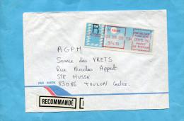 MARCOPHILIE- Lettre- REC-ST PIERRE -pour Françe-cad1989- étiquette De Bureau à 15.90 Frs - Lettres & Documents