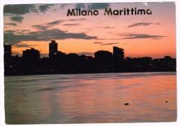 G3360 Cervia (Ravenna) - Milano Marittima - Panorama Al Tramonto - Sunset Coucher / Viaggiata 1989 - Italie