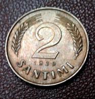 LATVIA  2 SANTIMI  COIN  1939 Y  - VF +++ - Latvia