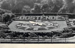 Ostende Horloge Fleurie. - Oostende Bloemen Uurwerk. - Kaart Verstuurd In 1958. - Oostende