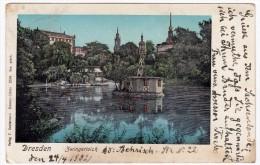 DRESDA - DRESDEN - ZWINGERTEICH - 1902 - Vedi Retro - Formato Piccolo - Dresden