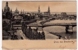 DRESDA - GRUSS AUS DRESDEN - 1902 - Vedi Retro - Formato Piccolo - Dresden