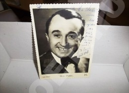 CARTE PHOTO ANCIENNE GEO POMEL HARCOURT Autographe Et Dédicace Authentiques - Autographes