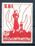 España, Guerra Civil, SIA Cotizacion Trimestral 2.50p, GG 1574, R, * - Viñetas De La Guerra Civil