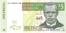 Malawi - Pick 36a - 5 Kwacha 1997 - Unc - Malawi