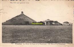 CPA WATERLOO LA BUTTE DU LION ET LE PANORAMA - Waterloo