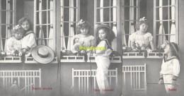 SERIE DE 5 CPA ENFANT FILLE SOUVENIR FENETRE - Groupes D'enfants & Familles