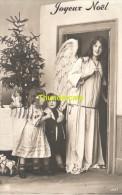 CPA ENFANT FILLE ANGE ** RPPC REAL PHOTO POSTCARD GUARDIEN ANGEL CHILD GIRL - Groupes D'enfants & Familles