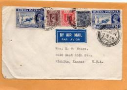 Burma Air Mail Cover Mailed To USA - Birmanie (...-1947)