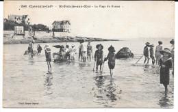 Cpa St-Palais-sur-Mer  / La Plage Du Bureau . - Saint-Palais-sur-Mer