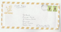 2001 Air Mail Dubai UAE COVER Stamps 2x 150f BIRD To GB  United Arab Emirates  Birds - United Arab Emirates (General)