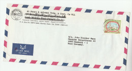 Air Mail KUWAIT Illus  ADVERT COVER Al NOURI TRADING Co  80f Stamps To Germany - Kuwait