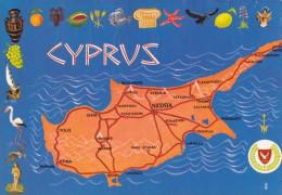 CP Cyprus Carte Géographique Illustrée - Chypre