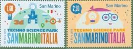 2015 - SAN MARINO - PARCO SCIENTIFICO TECNOLOGICO 2 VALORI NUOVI MNH** - EMISSIONE CONGIUNTA CON L'ITALIA - Nuovi