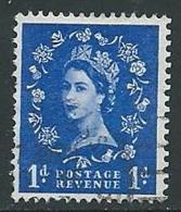 1960-67 GRAN BRETAGNA USATO ELISABETTA II 1 P FILIGRANA CORICATA - U08 - 1952-.... (Elizabeth II)