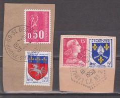 FRANCIA. BONITOS FRAGMENTOS. USADO - USED. - 1941-66 Escudos Y Blasones