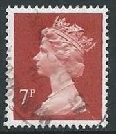 1985 GRAN BRETAGNA USATO ELISABETTA II 7 P - U09 - 1952-.... (Elizabeth II)