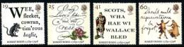 GB 1996 ROBERT BURNS - THE IMMORTAL MEMORY SET OF 4 SG 1901-04 MI 1601-04 SC 1639-42 IV 1847-1850 - 1952-.... (Elizabeth II)