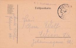 Feldpost WW1: KK Baukompagnie P/m KuK Feldpostamt 381 16.8 - Plain Postcard  (G78-60) - Militares