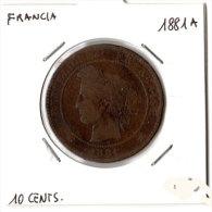 Francia, 10 Cents 1881A. - Frankreich