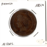 Francia, 10 Cents 1881A. - D. 10 Centimes
