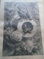 Das Spatzennest  -Giacomelli - Sparrows -  Holzschnitt Gravure 1880  IW1880.145 - Estampes & Gravures