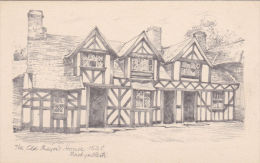 MACHYNLLETH - THE OLD MAYORS HOUSE. PENCIL SKETCH - Montgomeryshire