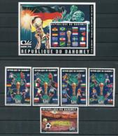 DAHOMEY   Soccer Football  World Cup 1974  5v.+ SS Imperf. Rare! - Fußball-Weltmeisterschaft