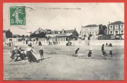 CPA Le Crotoy - Chalets Sur La Plage - Le Crotoy