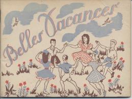 """PUBLICITE  - UFOVAL - Concours  -  """" Belles Vacances """"  - Colonie - Petit Livre Pour Réaliser Des Dessins - 1949 - Publicités"""
