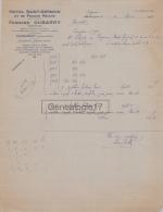 65 171 MAUBOURGUET PYRENEES 1938 Hotel Saint Germain De France FERNAND DUBARRY Proprietaire OMNIBUS à SALZEDO De BAYONNE - 1900 – 1949