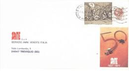 £70 NATALE 1977 BUSTA 50 SAME - 1971-80: Storia Postale