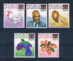 Kenia 1964 Tag Der Republik Mi.Nr. 15/19 Kpl. Satz ** - Kenia (1963-...)