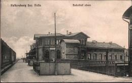 ! Alte Ansichtskarte, Bahnhof Falkenberg, Turmbahnhof, Eisenbahnstrecke Leipzig - Cottbus - Falkenberg