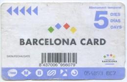 TT -TICKET DE TRANSPORTE DE BARCELONA - Tram
