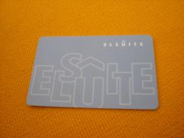 Korea El Suite Hotel Room Key Card - Herkunft Unbekannt