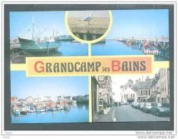 14 GRAND CHAMPS ... Carte Multi Vues - Le Port, Bateauxde Peches Commerces Voitures .. (cpsm) - France