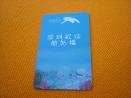 China Shenzhen Airport Hotel Room Key Card (coral Ray Sea Fish Poisson) - Télécartes