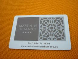 Spain Martin El Humano Hotel Room Key Card - Phonecards