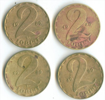 2 FORINT 4 PIECES:1976;1989 - Hungary